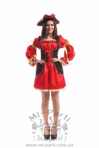 Костюм красной пиратки