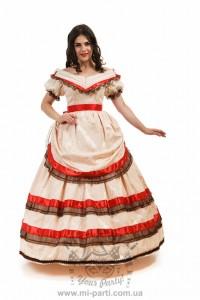 Костюм бальное платье с кринолином