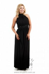 Платье черное расшитое камнями