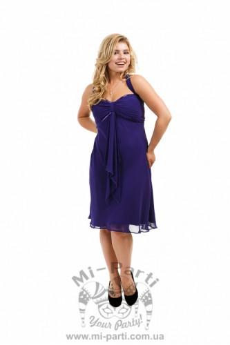 Платье фиолетовое коктейльное