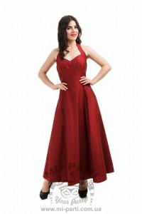 Платье вишневого цвета