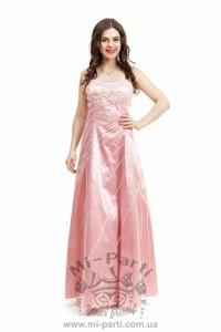 Платье розовое А-силуэт