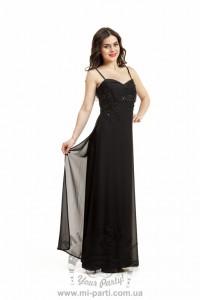 Платье черное из шифона