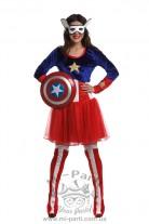 Костюм капитана Америки для девушки