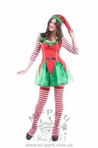 Костюм веселого різдвяного ельфа