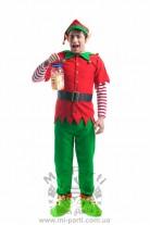 Костюм рождественского мальчика эльфа