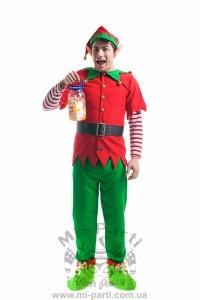 Костюм різдвяного хлопчика ельфа